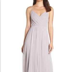 Lulus Bridesmaid Dress in Light Grey
